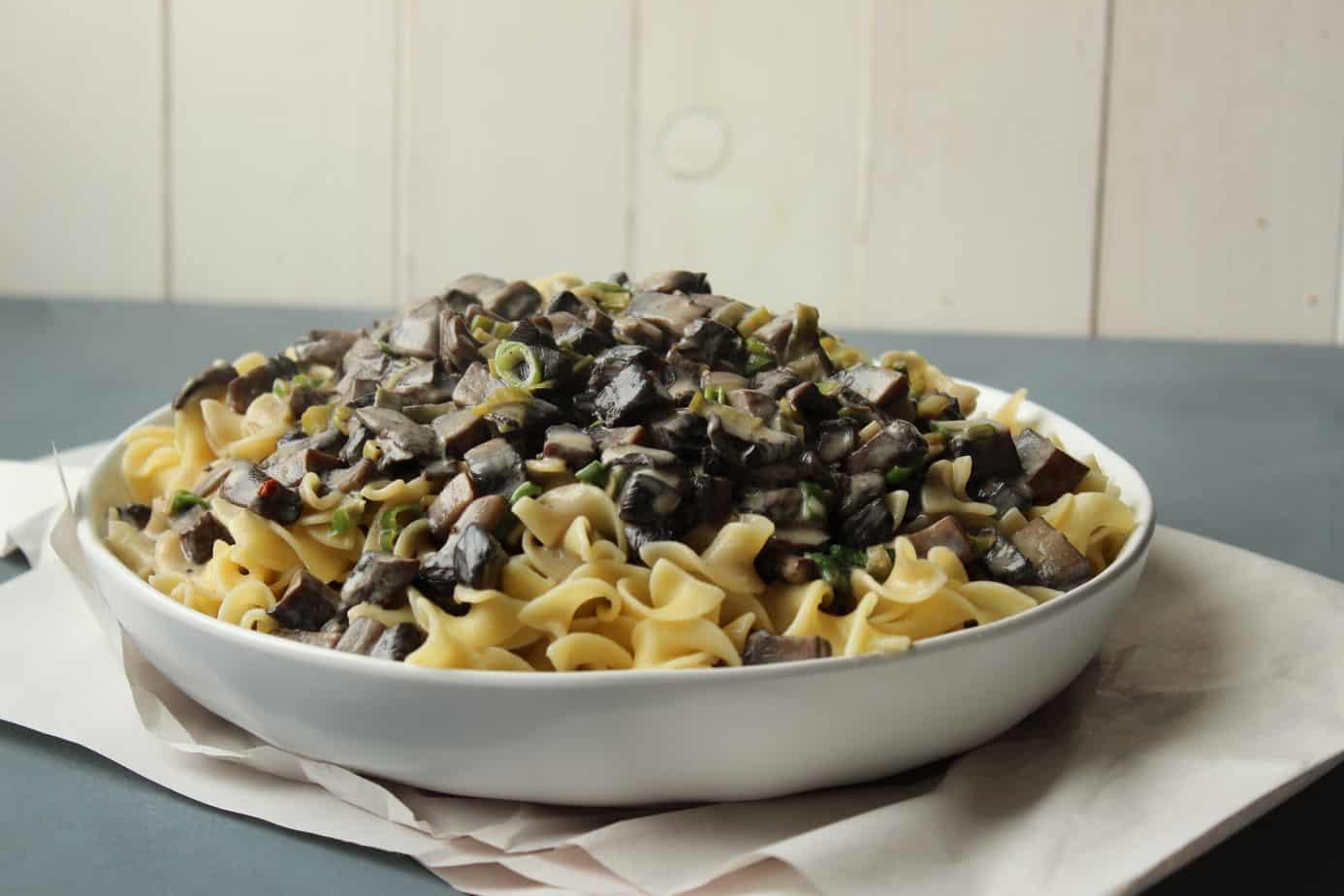 Mushroom Stroganoff a la Alton Brown - Flour & Spice